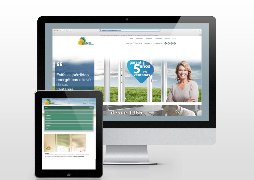 Diseño y Desarrollo web Ventanas Castelló