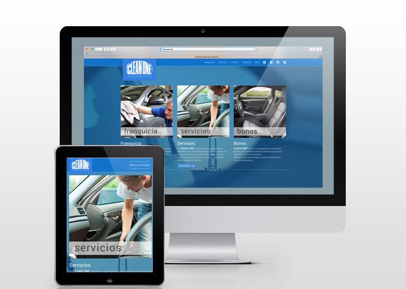 Diseño y desarrollo web para Clean One