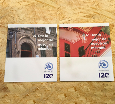 Diseño editorial de los Anuarios 120 Años - Fundación La Caridad (Zaragoza)